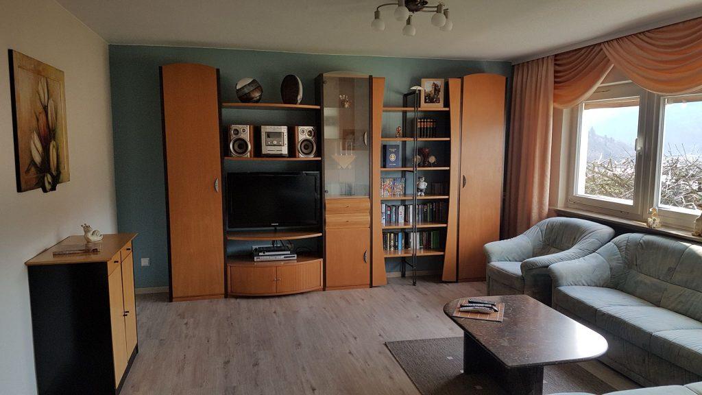 Wohnzimmer-Ferienwohnung-Neckarblick-Odenwald-Eberbach
