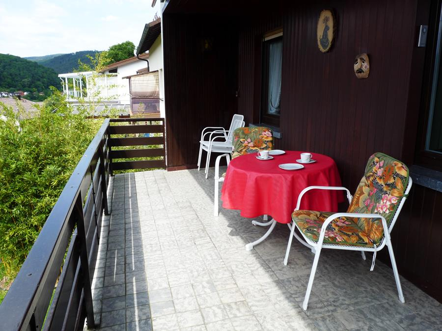 Balkon-Ferienwohnung-Neckarblick-Neckartal-Odenwald-Eberbach