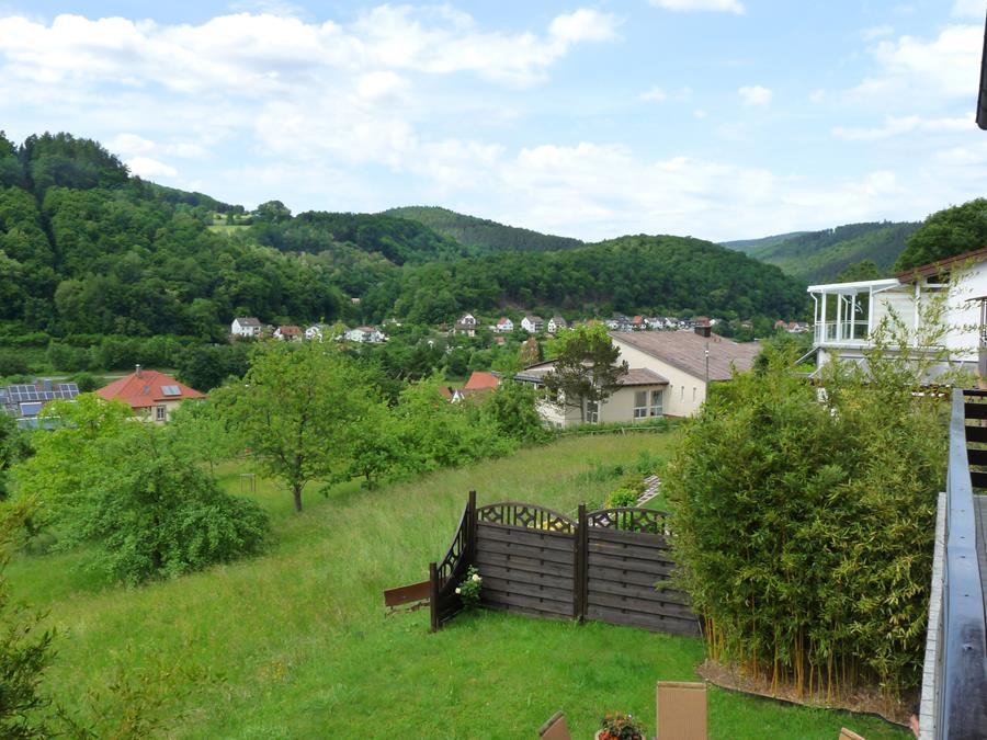 Garten-Ferienwohnung-Neckarblick-Neckartal-Odenwald-Eberbach